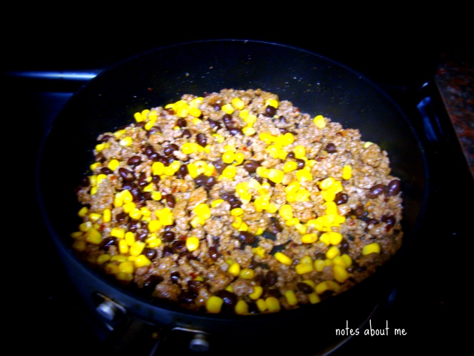 Add corn and beans