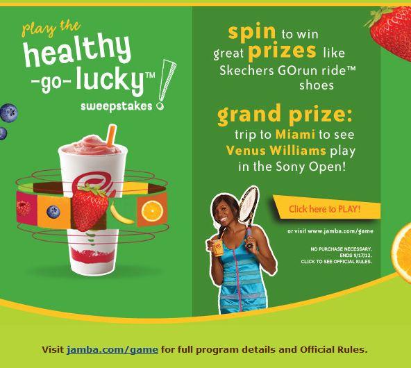 Jamba Juice spin game