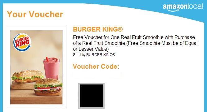 BK Free Voucher