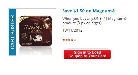 $1.50 off Magnum ice-cream bars
