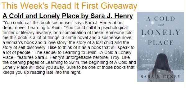 Read it Forward Giveaway - A Cold and Lonely Place