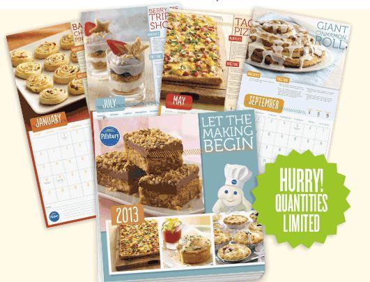 Free 2013 Pillsbury calendar