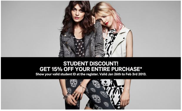 h&m student discount