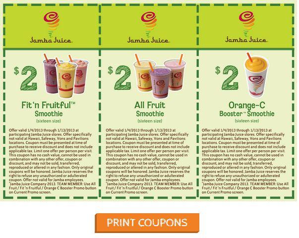 Jamba Juice Coupons $2