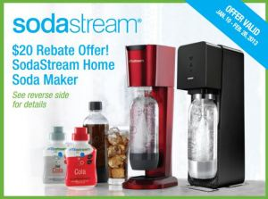 Sodastream $20 rebate offer