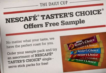 Nescafe samples